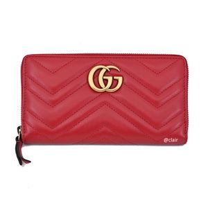 Gucci GG Marmont Leather Zip-Around Wallet